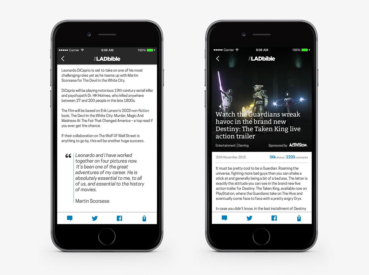 The Lad Bible app