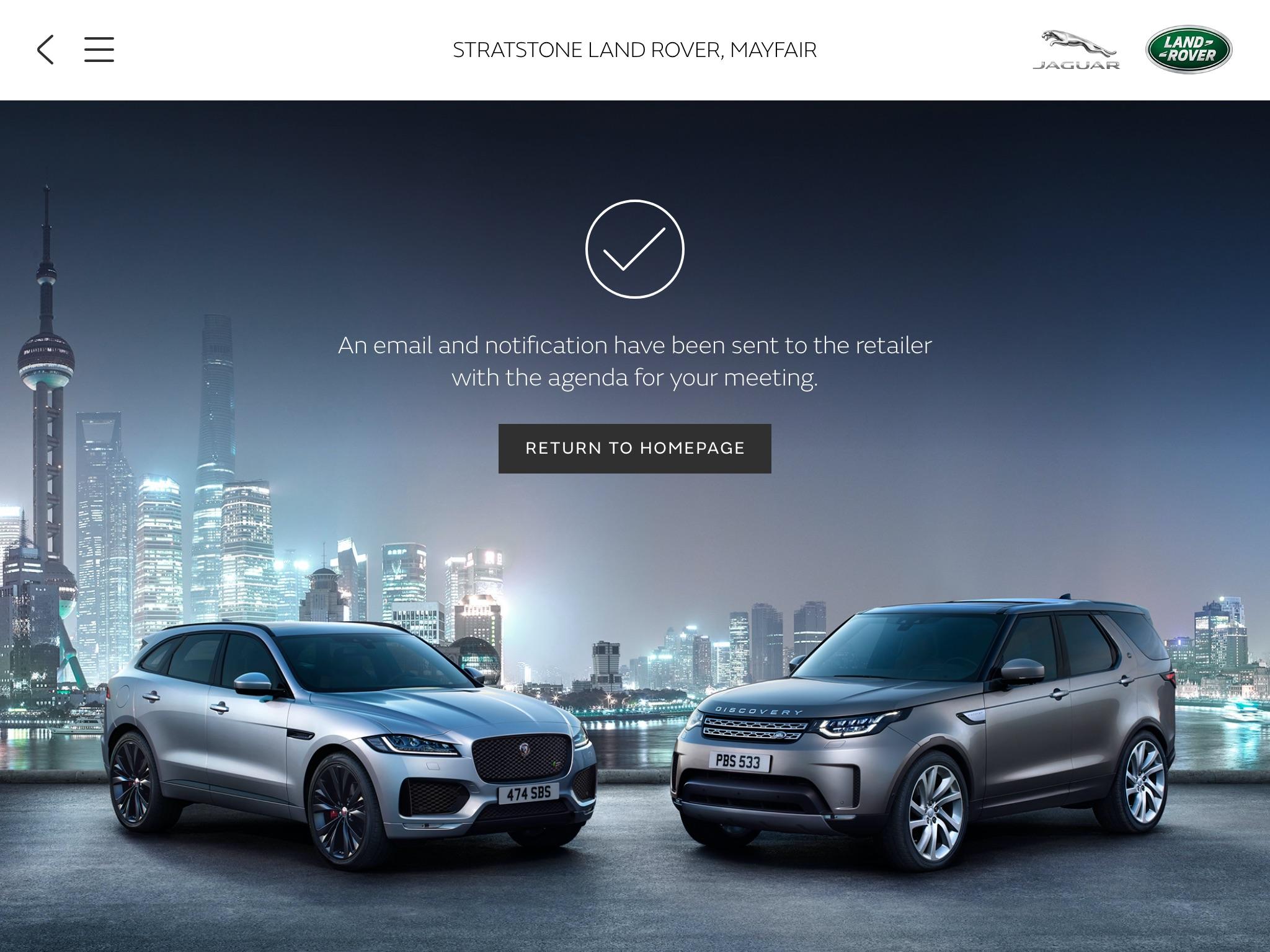 Jaguar Land Rover app