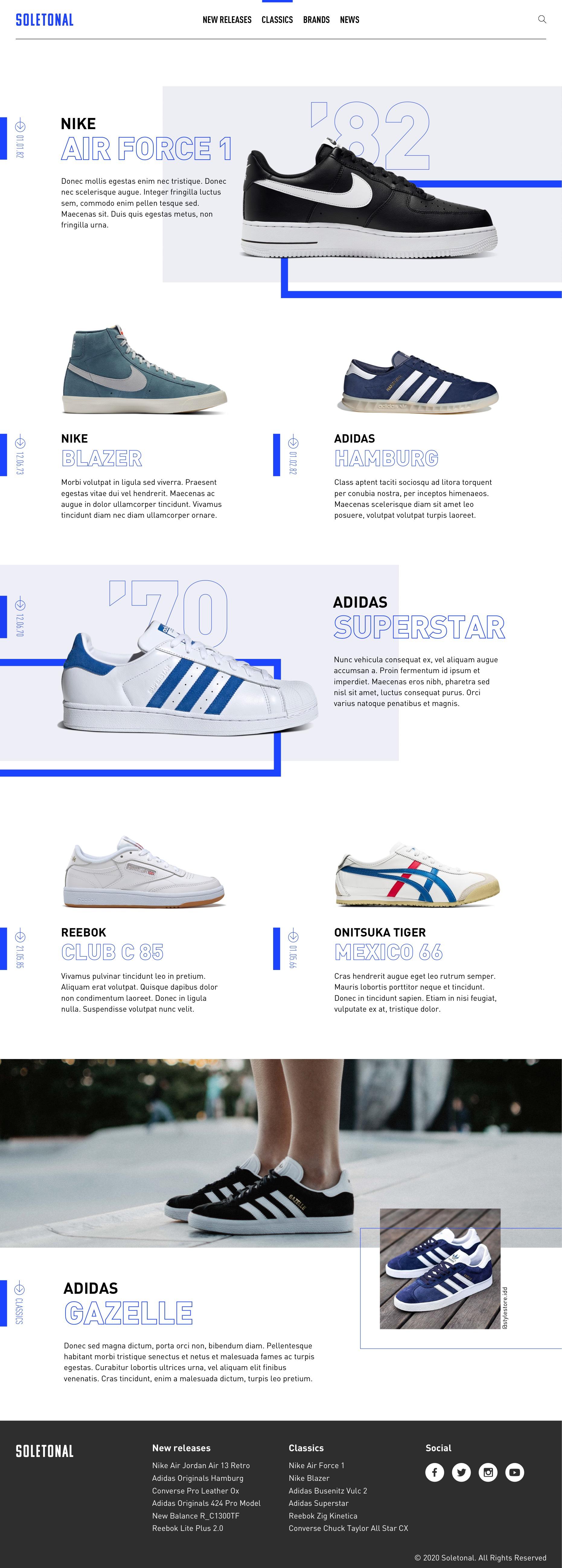 Soletonal website